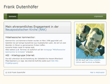 Tablet Preview of dutenhoefer.de